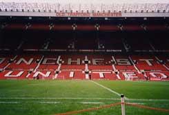 Old Traffordのベンチから見た風景