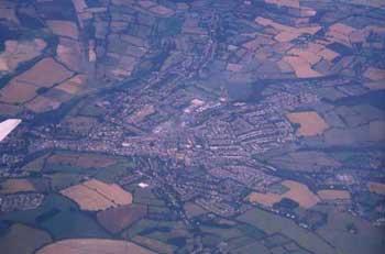 上空から見た街