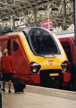 マンチェスターの電車